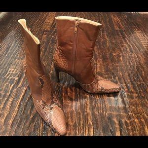 Gina Bacconi Shoes - Brand New - Never worn GINA Snake skin booties